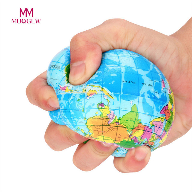 Stress relief world map foam ball atlas globe palm ball planet earth stress relief world map foam ball atlas globe palm ball planet earth ball adult kids novelty gumiabroncs Choice Image