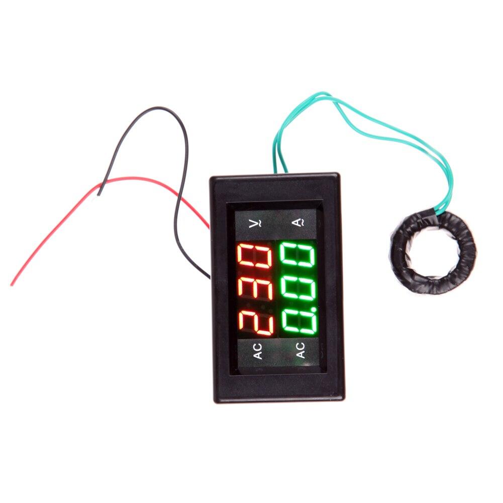 Digital <font><b>Volt</b></font> Ampere Amp <font><b>Meter</b></font> Voltmeter Guage Voltage AC 100-300V/200A Black AC Voltage &#038; Amp <font><b>Meter</b></font> with AC Current Transformer