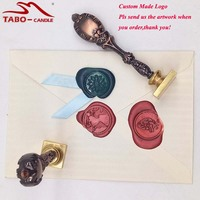 Red Brass Customized Your Design Personalized Picture Logo Sealing Wax Stamp Vintage Peacock Metal Handle Customized
