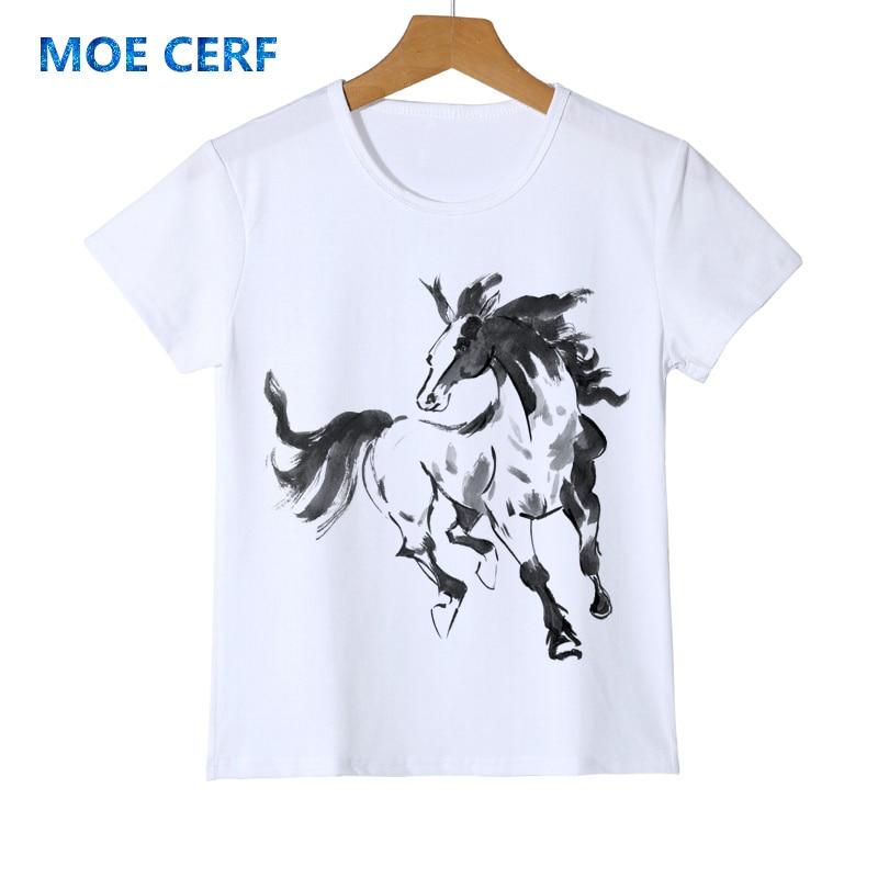 Tees Shirt Unicorn-Horse Child Girl Boy Brand Cool Y14-18 New-Arrival