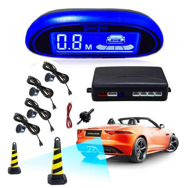 자동차 자동 Parktronic LED 주차 센서 4 센서 역방향 백업 주차 레이더 모니터 자동차 부저 감지기 시스템 디스플레이