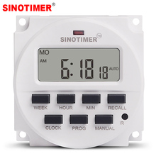 15.98 inch LCD big DISPLAY 220V ac 7 days programmable timer switch with UL listed relay inside цена 2017
