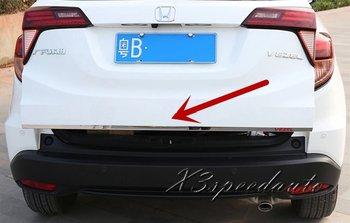 Для Honda Vezel HR-V 2014-16 откидная задняя дверь багажника Отделка крышки багажника 1 шт. нержавеющая сталь высокого качества