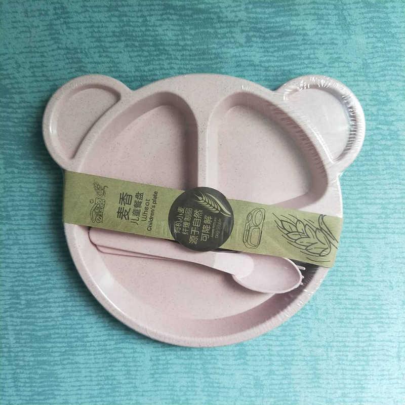 Детская посуда, пшеничная солома, детская посуда с рисунком, комплект, детский обеденный тарелка, миска для кормления, комплект OPP, упаковка
