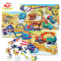 60 Pieces Of Jigsaw Puzzle Cartoon Puzzles For Children Wooden Toys Gifts Early Educational Montessori For
