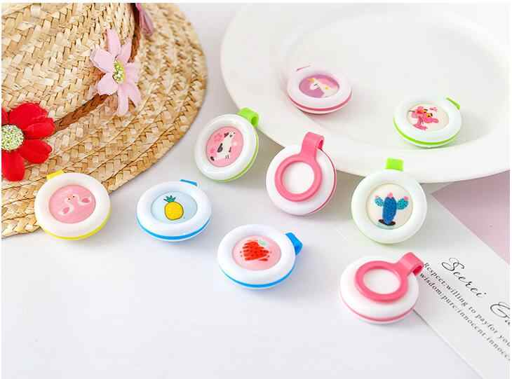 10 pcs Random Color Mosquito Repellent Bracelets Buttons Mini Lightweight Cute Shape Driving Mosquito Baby Children Sleeping