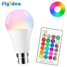 5 Вт 10 Вт 15 Вт светодиодная RGB светильник ПА 220 В 110 В B22 Волшебная сменная лампа 16 цветов смарт-лампа + ИК-управление домашний декор RGB + белый