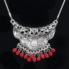 цены на Vintage Ethnic Nature Stone necklace Teardrop Pendant Necklace Women Lariat Beads Knotted Bohemia Necklace Christmas gifts  в интернет-магазинах