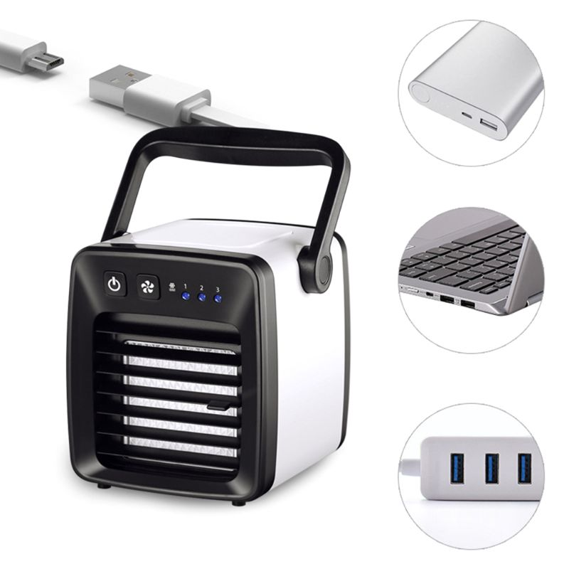 FeiFei66 New Mini USB Desk Fan Small Quiet Personal Cooler USB Powered Portable Table Fan