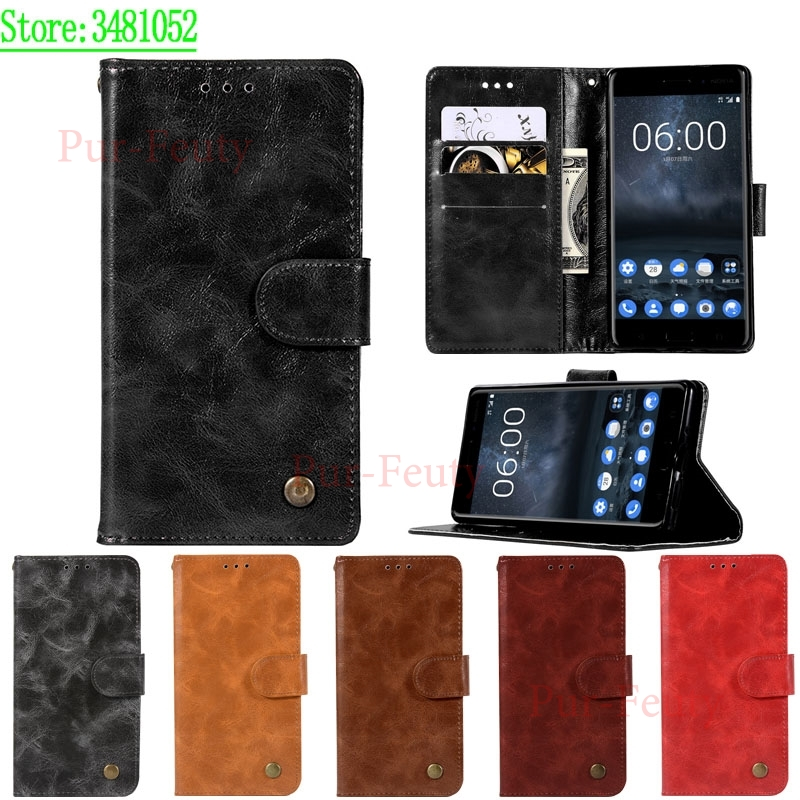 For <font><b>Nokia</b></font> <font><b>3</b></font> TA-<font><b>1032</b></font> TA-1020 <font><b>Case</b></font> Cover Wallet PU Leather Phone <font><b>Case</b></font> for Nokia3 Global Dual TA <font><b>1032</b></font> Silicone <font><b>Case</b></font> Flip Back Bags image