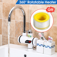 220V 3000W Electric Instant Heating Water Heater Crane Hot/Cold Water Faucet Kitchen Bathroom Tap LED Digital