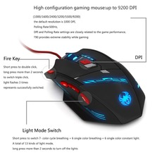 Computer Accessories ZELOTES T-90 8 Key 9200 DPI Wired USB Optical Pro Gaming Mouse 13 Light Mode
