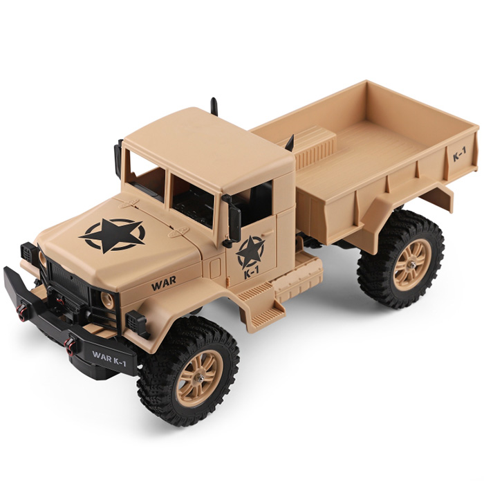 1:12 Scale USB Electric Four-Wheel RC Military Truck Flexible Steering RC Racing Truck 10km/H 4 Remote Control RC Off Road Truck1:12 Scale USB Electric Four-Wheel RC Military Truck Flexible Steering RC Racing Truck 10km/H 4 Remote Control RC Off Road Truck