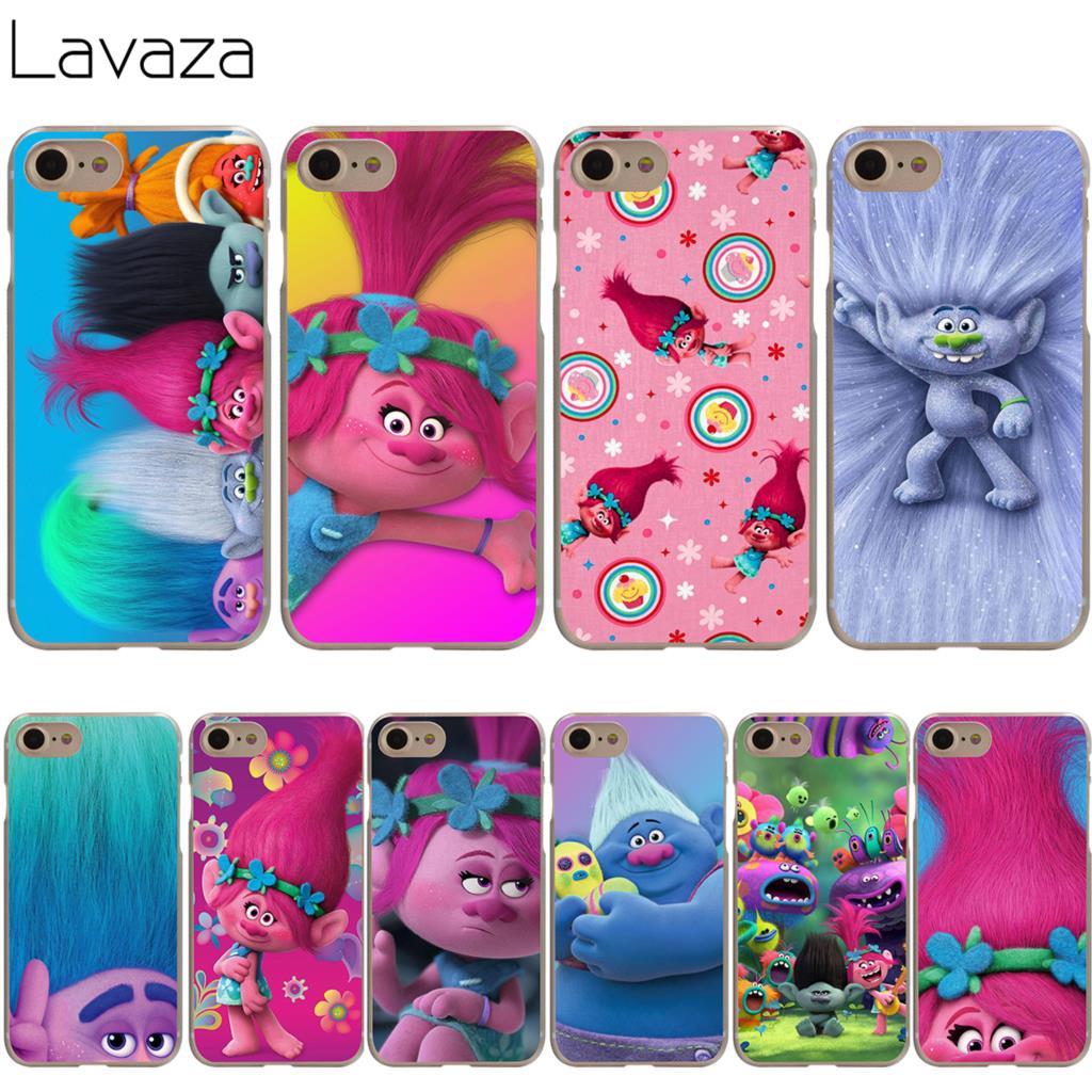 Lavaza Trolls Poppy Cover Case for iPhone X 10 8 7 Plus 6 6S Plus 5 5S SE 5C 4 4S Cases