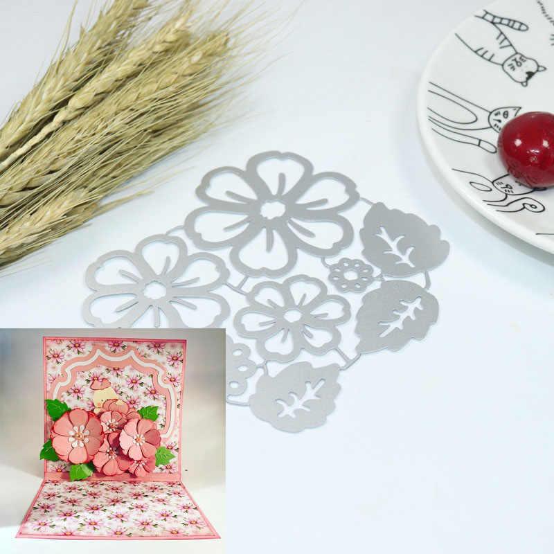 Flower  Metal cutting dies stencils and stamps for DIY Scrapbooking Scrapbook Paper Album Craft Dies