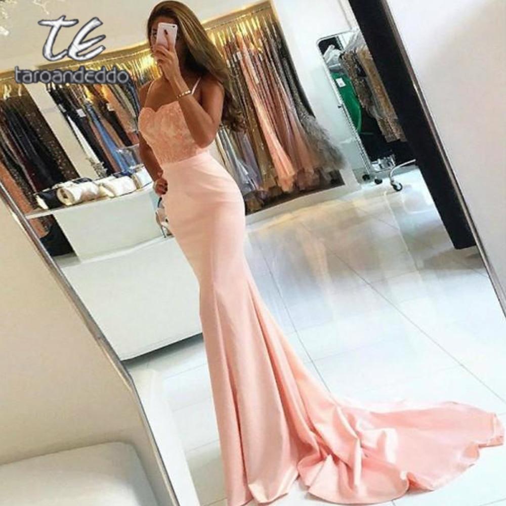 Mermaid Sweetheart   Prom     Dresses   Spaghetti Straps Sweep Train Floor Length Evening Formal Party   Dress   with Belt Vestido De Fiesta