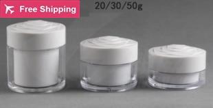 20g 30g 50g dinding ganda botol krim putih Dengan Tutup berbentuk - Alat perawatan kulit