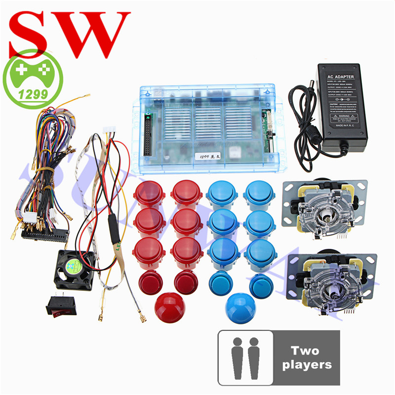 1399 in 1 Arcade Game Board with 2 Joysticks Arcade buttons DIY Kit for Pandora 6S