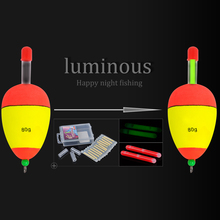 FISHIKING 5g 10g 15g 20g 25g 30g 40g 50g 60g 80g Luminous  Foam Fishing Floats Night Float EVA Big Foam Float Light Stick Floats
