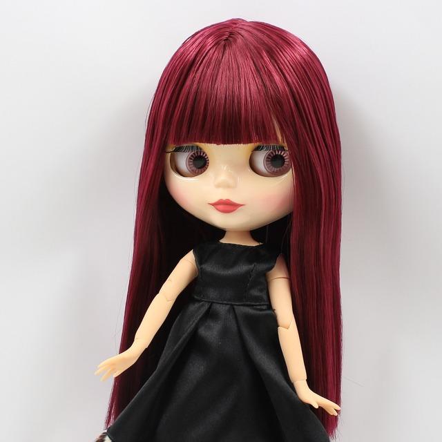 Factory Neo Blythe Doll Fuchsia Hair Jointed Body 28cm