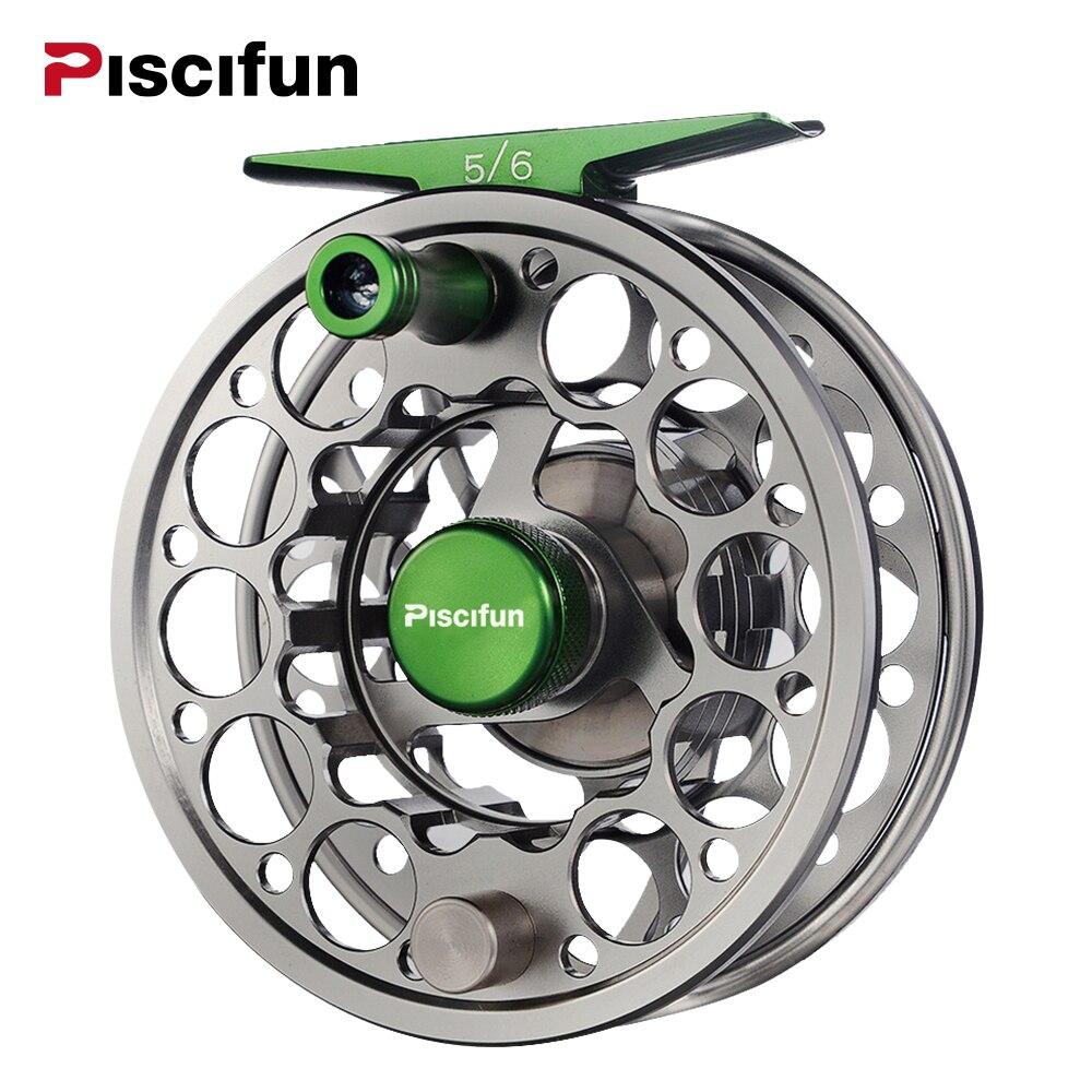 Bobine de mouche épée Piscifun avec matériau en Aluminium usiné à CNC 3/4/5/6/7/8/9/10 WT moulinet de pêche à la mouche gaucher droit Gunmetal