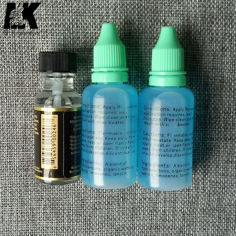 1 bottle 0.5OZ-15ML lace wig silicone adhesive/glue solution/tape glue ultra hold & 30ml adhensive remover 2bottles