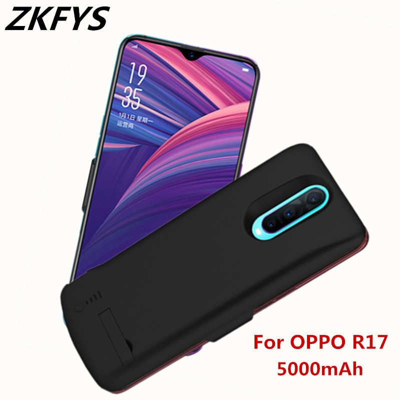 ZKFYS 6500mAh Battery Charger Case For OPPO R17 Ultra Thin Fast Charger Battery Cover For OPPO R17 Back Clip Battery Case in Battery Charger Cases from Cellphones Telecommunications