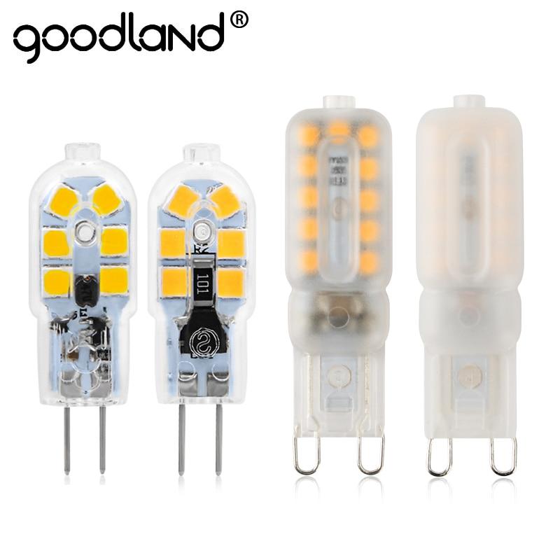 Goodland G4 G9 LED Lamp 3W 5W Mini LED Bulb High Brightness AC 220V DC 12V Chandelier Light Bulbs Replace Halogen Lamps For Home