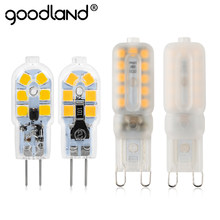 Goodland G4 G9 LED Lamp 3W 5W Mini LED Bulb High Brightness AC 220V DC 12V Chandelier Light Bulbs Replace Halogen Lamps For Home(China)