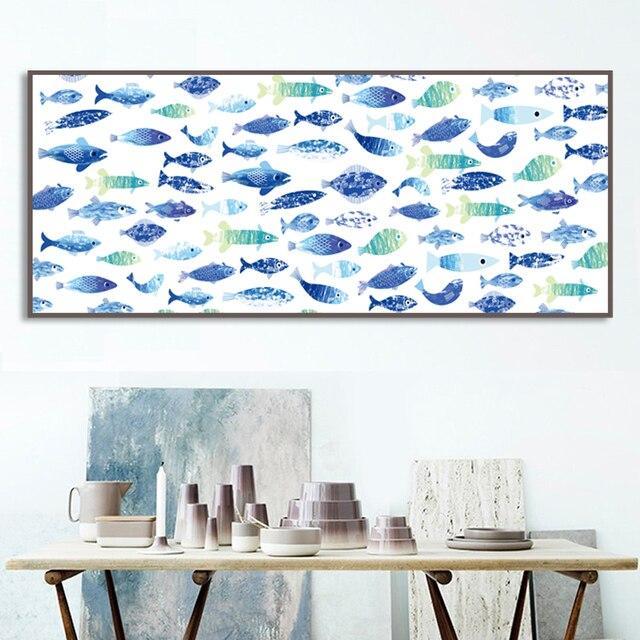 Fish watercolor home decor