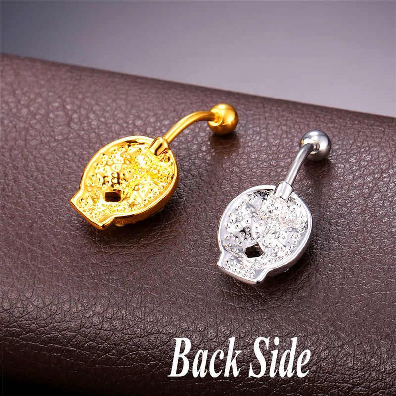 יוקרה יהלומים מלאכותיים תכשיטי גוף טבעת טבור גביש לנשים זהב צבע פרח טבור פירסינג הברים Nombril DB1979