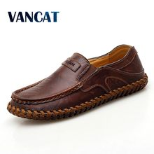 Brand Genuine Leather Men Shoes Fashion Casual Shoe