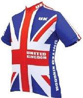ราชอาณาจักรทีมจักรยานย์แขนสั้นขี่จักรยานclothingโพลี