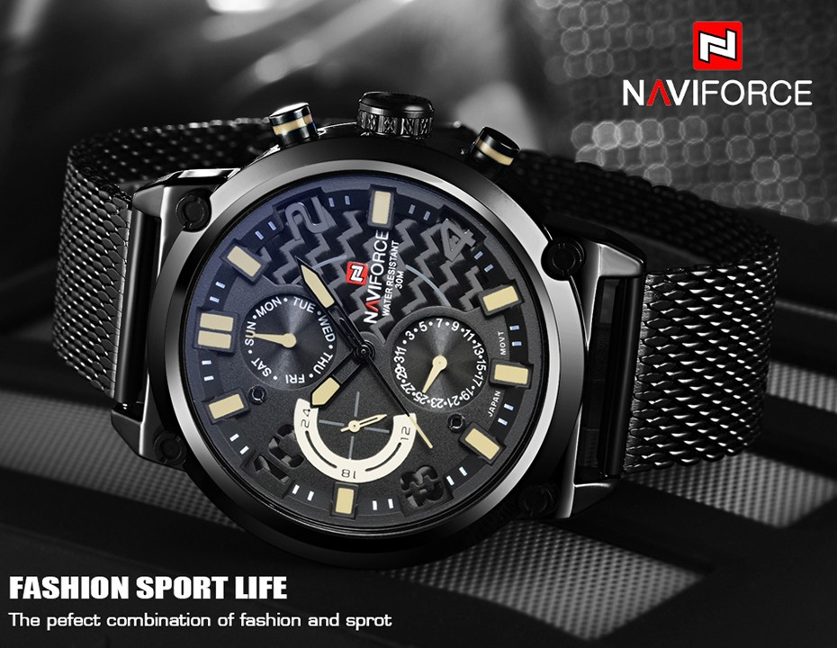 Naviforce NF9068 Men Analog Quartz Watch