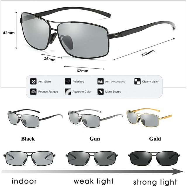 ZAATORA™ Polarized Chameleon Glasses Driving Goggles Anti-glare 5