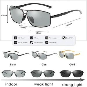 Image 5 - Lioumo topo fotocromático óculos de sol óculos de camaleão polarizados óculos de condução anti reflexo zonnebril heren