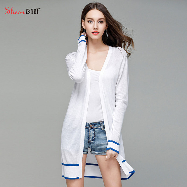 Knitted Cardigan for Women Long 2017 Summer Poncho White Casual ...