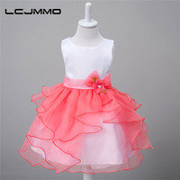 Girls Dress Summer High Grade Wedding Dresses Children Bow Diamond Party Dresses Bridesmaid Dress