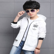 Arrival Spring Summer Baby Boys Hooded Jackets Hooded Thin Teenagers Outerwear Trench Coat Kids Jacket for stopping garments