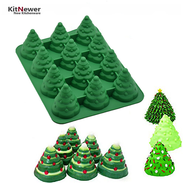 xmas diy 3d silicone mold many patterns christmas tree umbrella box gift santa claus sleigh giraffe - Umbrella Christmas Tree