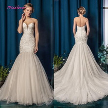 Vestido De Noiva Vintage Luxury Wedding Dress 2019 backless