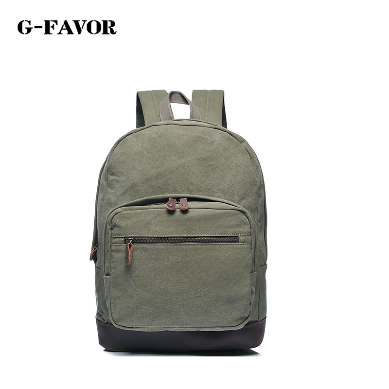 G-FAVOR 2018 New Vintage woman men Canvas Backpack Unisex Fashion Backpack all-match Travel Backpack for Teenagers