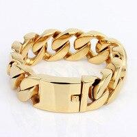 Coleção exclusiva de jóias china fabricante dubai estilo da cor do ouro titanium pulseiras do sexo masculino para homens
