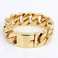 exclusive collection China jewelry Manufacturer dubai style gold color titanium male bracelets for men