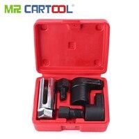 MR CARTOOL 5pcs Oxygen Sensor Wrench Kit Thread Chaser Tool Fit for Auto O2 Socket Removal Install Offset Vacuum Sensor Socket