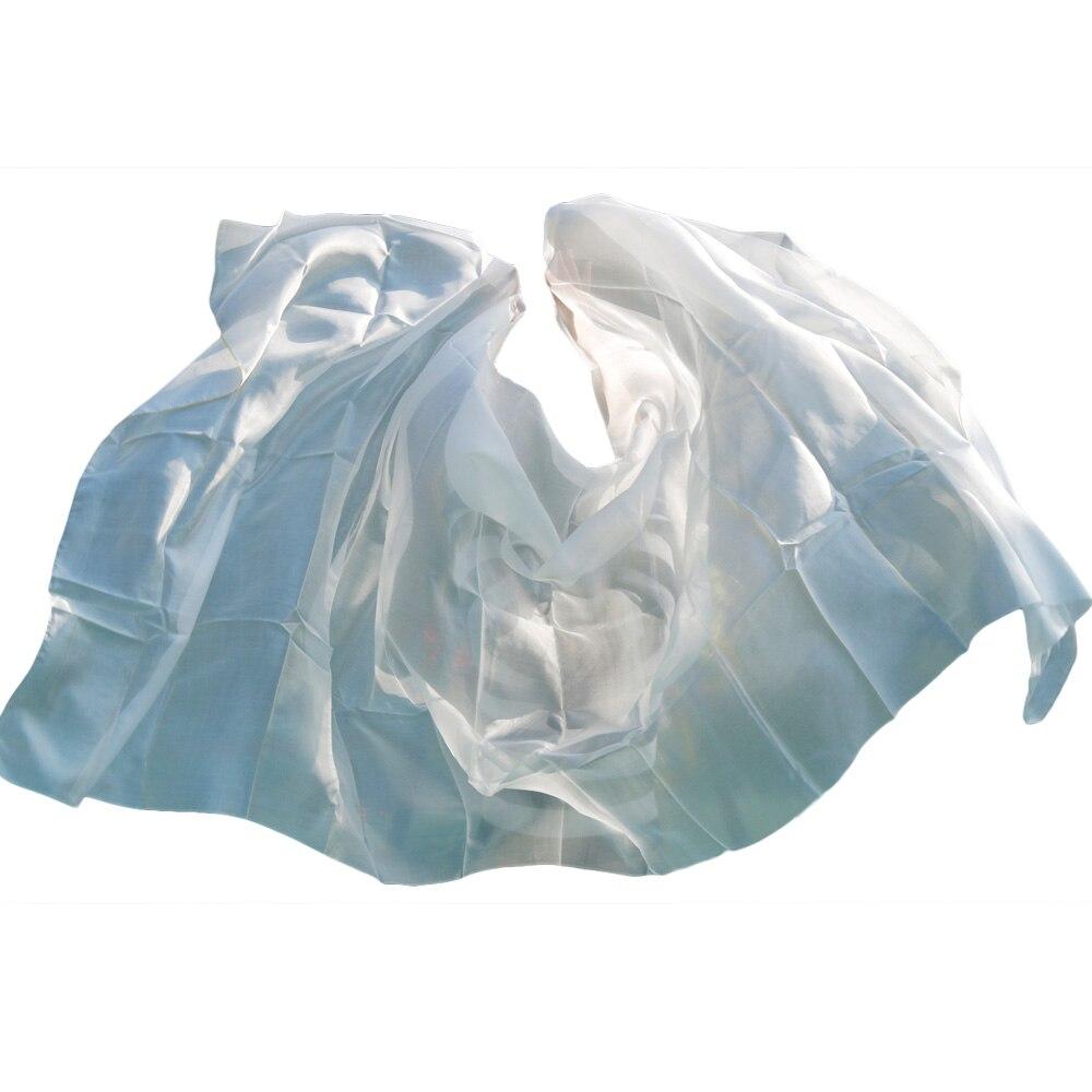 2018 High Quality Cheap Dance Veils Women's Sexy 100% Silk Belly Dance Veil Wholesale White