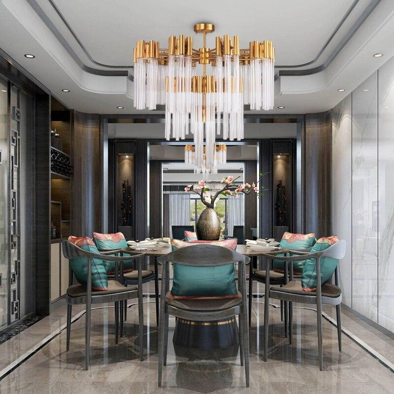 New Modern Glass Chandelier For Living Room Luxury Gold ...