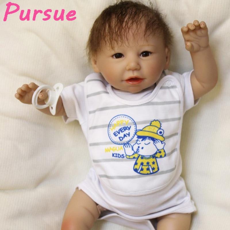 цена на Pursue 53 cm Reborn Vinyl Dolls Silicone Reborn Baby Dolls Toys for Girls for Sale Cheap boneca bebe reborn barato verdadeira