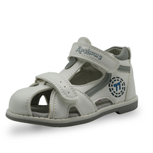 Kids Closed Toe PU Leather Sandals