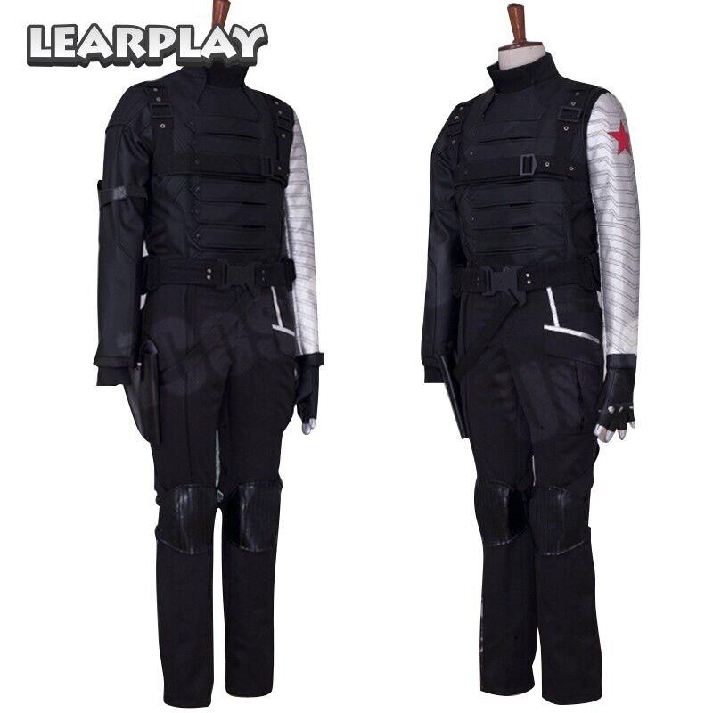 Captain America 2 hiver soldat Bucky Barnes Cosplay Costume homme bataille Costume ensembles Halloween uniforme